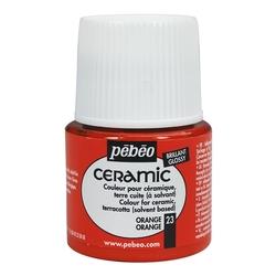 Pebeo - Solvent Bazlı Seramik Boya 45ml Şişe - 23 Orange