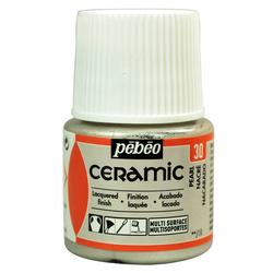 Pebeo - Solvent Bazlı Seramik Boya 45ml Şişe - 30 Pearl
