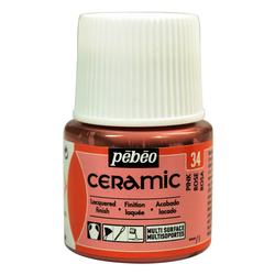 Pebeo - Solvent Bazlı Seramik Boya 45ml Şişe - 34 Pink