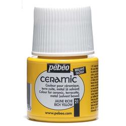 Pebeo - Solvent Bazlı Seramik Boya 45ml Şişe - 21 Rich Yellow