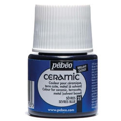 Pebeo - Solvent Bazlı Seramik Boya 45ml Şişe - 25 Sevres Blue