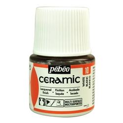 Pebeo - Solvent Bazlı Seramik Boya 45ml Şişe - 10 White
