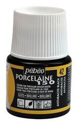 Pebeo - Su Bazlı Porselen Boya 150 45ml Şişe - 42 Antrh. Black