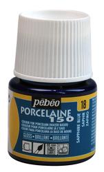 Pebeo - Su Bazlı Porselen Boya 150 45ml Şişe - 18 Sapphire Blue