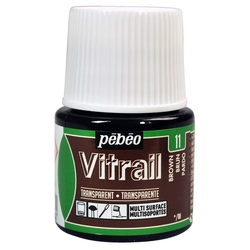 Pebeo - Vitrail Solvent Bazlı Cam Boya 45ml Şişe - 05011 Brown
