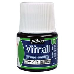 Pebeo - Vitrail Solvent Bazlı Cam Boya 45ml Şişe - 05037 Cobalt Blue