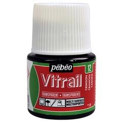Pebeo - Vitrail Solvent Bazlı Cam Boya 45ml Şişe - 05012 Crimson