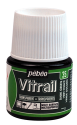 Pebeo - Vitrail Solvent Bazlı Cam Boya 45ml Şişe - 05035 Dark Green