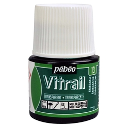 Pebeo - Vitrail Solvent Bazlı Cam Boya 45ml Şişe - 05013 Emerald