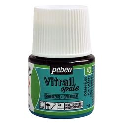 Pebeo - Vitrail Solvent Bazlı Cam Boya 45ml Şişe Opak - 05043 Ocean Blue