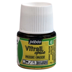 Pebeo - Vitrail Solvent Bazlı Cam Boya 45ml Şişe - 05040 Opal White Yellow