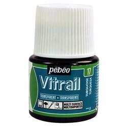 Pebeo - Vitrail Solvent Bazlı Cam Boya 45ml Şişe - 05017 Turquoise Blue