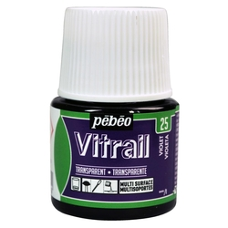 Pebeo - Vitrail Solvent Bazlı Cam Boya 45ml Şişe - 05025 Violet