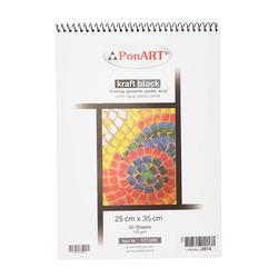Ponart - Kraft blok 125gr 25x35cm 30 Yaprak