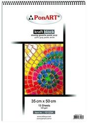 Ponart - Kraft Blok 125gr 35x50cm 15 Yaprak