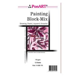 Ponart - Painting Mix 170 gr 25x35cm 12 Yaprak