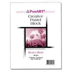 Ponart - Pastel Blok 160 gr 25x35cm 15 Yaprak