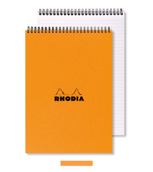Rhodia - Basic A4 Noktalı Blok Turuncu Kapak Spiral 80 Yaprak