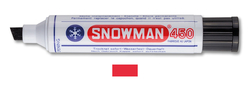Snowman - Kesik Uç Permanent Jumbo Markör - KIRMIZI