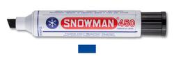 Snowman - Kesik Uç Permanent Jumbo Markör - MAVİ