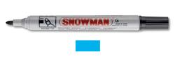 Snowman - Yuvarlak Uç Permanent Markör - AÇIK MAVİ