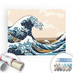Bir Kutu Sanat - The Great Wave - Tuval Üzerine Sayılarla Boyama Seti 40x50cm