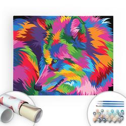 Bir Kutu Sanat - The Wolf - Tuval Üzerine Sayılarla Boyama Seti 40x50cm