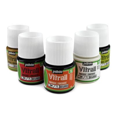 Vitrail Solvent Bazlı Cam Boya 45ml Şişe