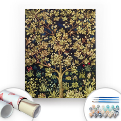 Bir Kutu Sanat - William Morris, Tree of Life - Tuval Üzerine Sayılarla Boyama Seti 40x50cm