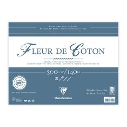 Clairefontaine - Fleur de Coton 18x24cm Uzun Kenarı Yapışkanlı 10 Yaprak