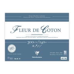 Clairefontaine - Fleur de Coton 30x40cm Uzun Kenarı Yapışkanlı 10 Yaprak