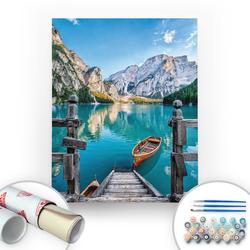 Bir Kutu Sanat - Göl Manzarası - Tuval Üzerine Sayılarla Boyama Seti 40x50cm