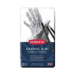 Derwent - Graphic Dereceli Kalem Seti Hard (Technical Drawing) 12li Teneke Kutu