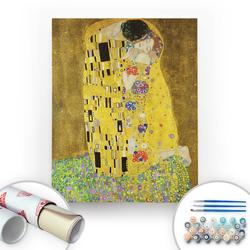 Bir Kutu Sanat - Gustav Klimt, The Kiss - Tuval Üzerine Sayılarla Boyama Seti 40x50cm