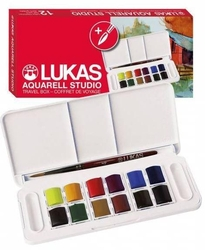 Lukas - Studio Aquarell Set 12x1/2 tablet