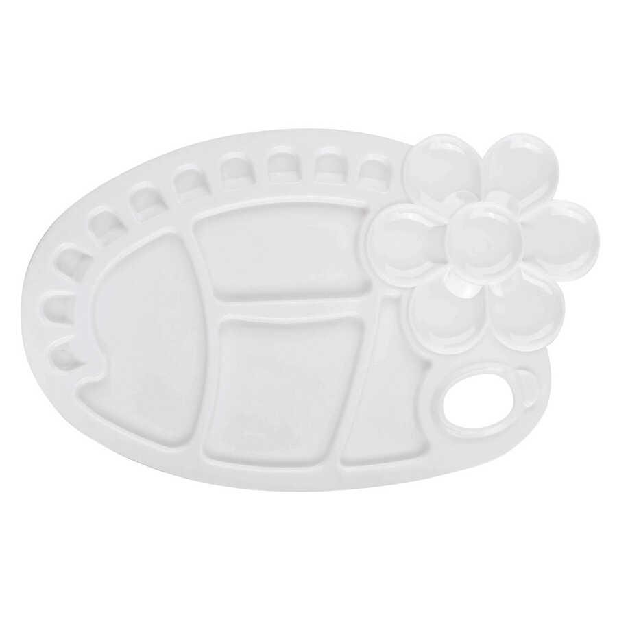 Plastik Büyük Boy Oval Palet - Çiçek - Su Kapları ve Paletler - Monart -