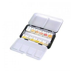 Mungyo - 12li Aquarel Yarım Tablet Metalik Renkler Suluboya