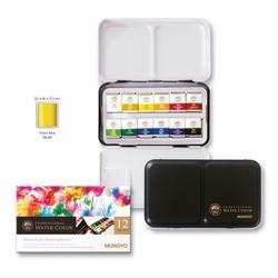 12'li Aquarel Yarım Tablet Suluboya Metal Kutu - Thumbnail