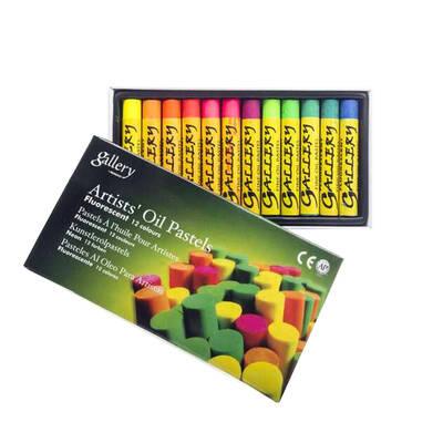 12'li Fosforlu Yağlı Pastel Karton Kutu