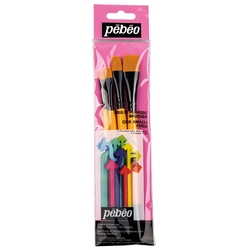 Pebeo - 4'lü Fırça Seti - SET 10