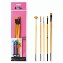 Pebeo - 5li Akrilik Boya Fırça Seti - SET 13