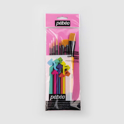Pebeo - 8'li Fırça Seti - SET 4