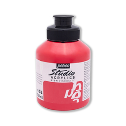 Pebeo - Studio Akrilik Boya 500ml Kavanoz 171-53 Dark Cadmium Red