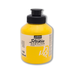 Pebeo - Studio Akrilik Boya 500ml Kavanoz 171-13 Light Azo Yellow