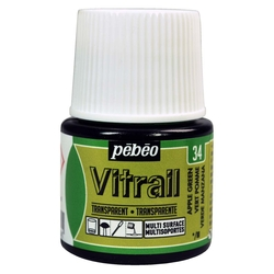 Pebeo - Vitrail Solvent Bazlı Cam Boya 45ml Şişe - 05034 Apple Green