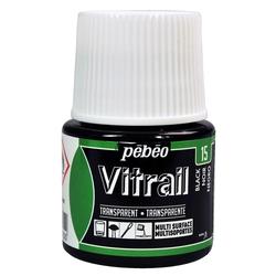 Pebeo - Vitrail Solvent Bazlı Cam Boya 45ml Şişe - 05015 Black