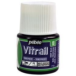 Pebeo - Vitrail Solvent Bazlı Cam Boya 45ml Şişe - 05010 Deep Blue