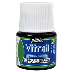 Pebeo - Vitrail Solvent Bazlı Cam Boya 45ml Şişe - 05036 Light Blue