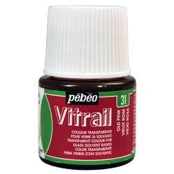 Pebeo - Vitrail Solvent Bazlı Cam Boya 45ml Şişe - 05031 Old Pink