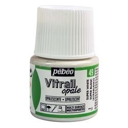 Pebeo - Vitrail Solvent Bazlı Cam Boya 45ml Şişe Opak - 05049 Super White